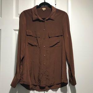 Babaton 100% Silk Button up Blouse